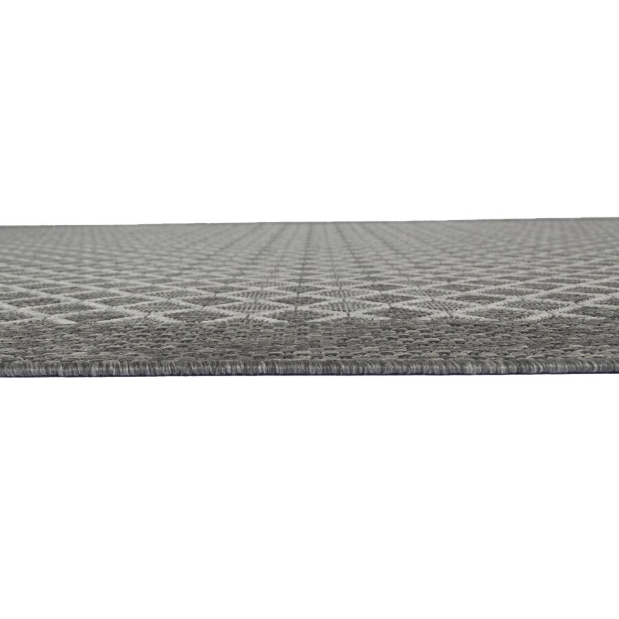 Balta Grey Rectangular Indoor/Outdoor Machine-Made Moroccan Area Rug (Common: 5 x 7; Actual: 5-ft W x 7-ft L)