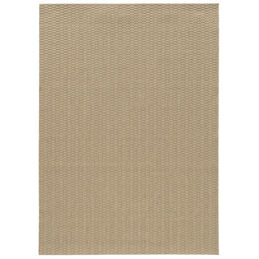 allen + roth Ashlyn Cream Rectangular Indoor/Outdoor Machine-Made Area Rug (Common: 8 x 10; Actual: 94-in W x 120-in L x 0-ft Dia)