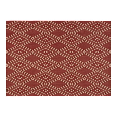 Hunsworth Tuscan Red Sand Rectangular Indoor Outdoor Machine Made Southwestern Area Rug Common 5 X 7 Actual Ft W L