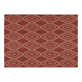allen + roth Hunsworth Tuscan Red/Sand Rectangular Indoor/Outdoor Machine-Made Southwestern Area Rug (Common: 5 x 7; Actual: 5-ft W x 7-ft L)