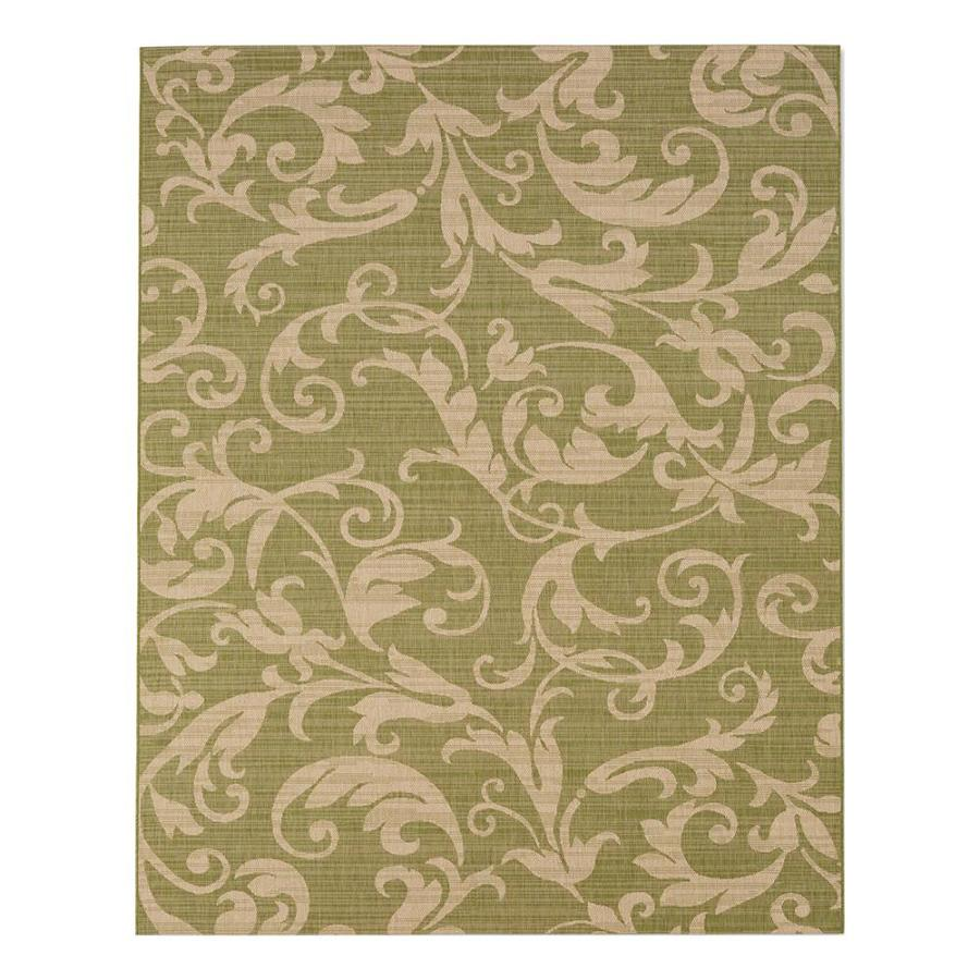 8x10 Indoor Outdoor Area Rugs: Shop Garden Treasures Alcaston Essenza Green/Sand