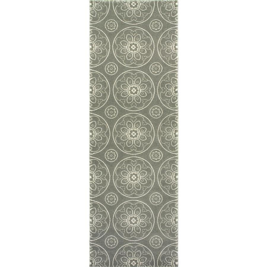 allen + roth Chatterly Gray Indoor Moroccan Area Rug (Common: 2 x 4; Actual: 1.97-ft W x 3.61-ft L)