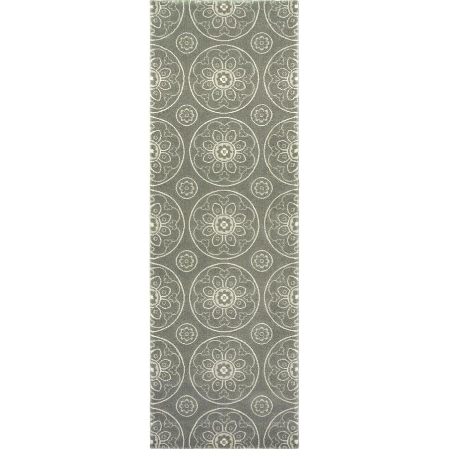 allen + roth Chatterly Gray Rectangular Indoor Machine-Made Moroccan Area Rug (Common: 2 x 8; Actual: 2.583-ft W x 7.83-ft L)