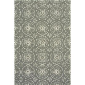 allen + roth Chatterly Gray Indoor Moroccan Area Rug (Common: 5 x 8; Actual: 5.25-ft W x 7.2-ft L)
