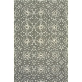 allen roth chatterly gray rectangular indoor machinemade moroccan area rug common