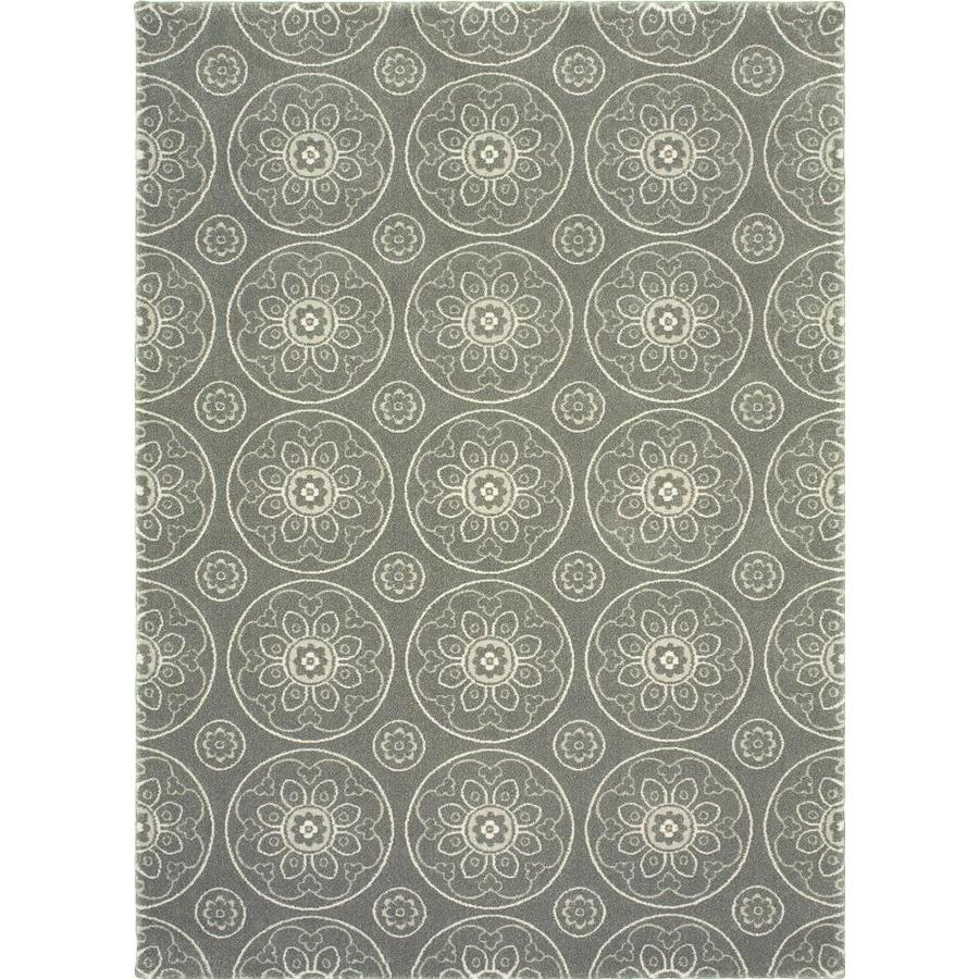 Allen Roth Chatterly Gray Indoor Moroccan Area Rug Common 8 X 10