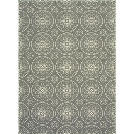 allen + roth Chatterly Gray Indoor Moroccan Area Rug (Common: 8 x 10; Actual: 7.87-ft W x 10-ft L)