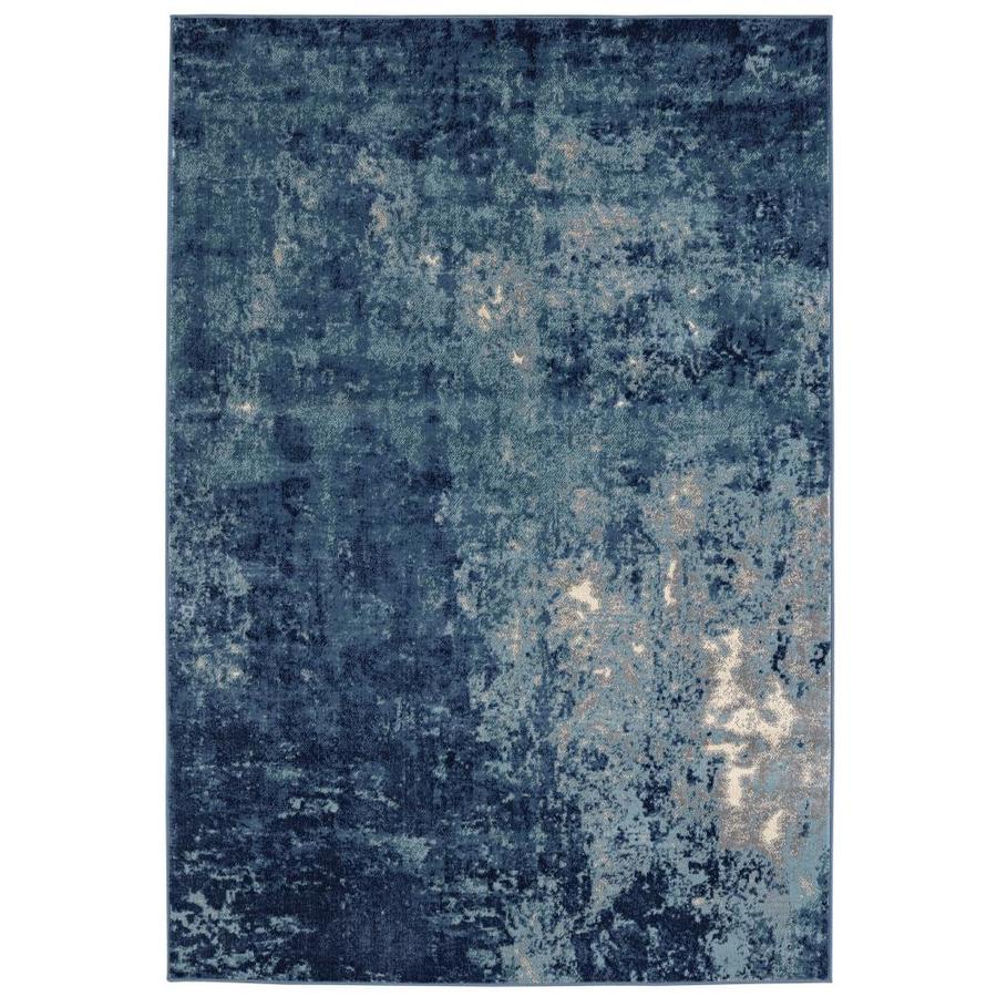 Shop Balta Blue Indoor/Outdoor Area Rug (Common: 8 x 10; Actual ...