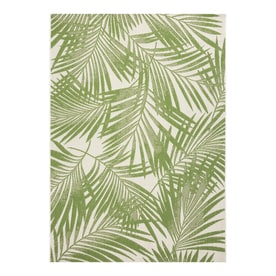 Garden Treasures Bright Palm 8x10 Green Rectangular Indoor/Outdoor Machine-Made Coastal Area Rug (Common: 8 x 10; Actual: 8-ft W x 10-ft L)