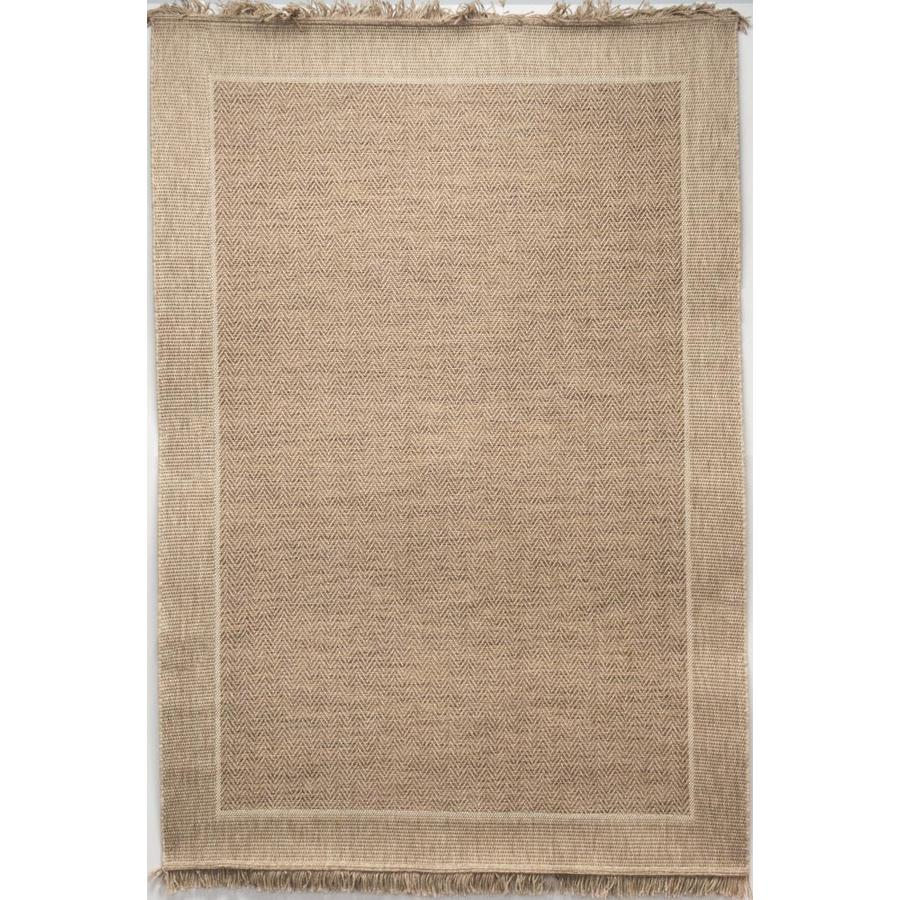 Outdoor Rug 7 X 10: Allen + Roth Indy 8ft X 10ft Tan Indoor/Outdoor Area Rug