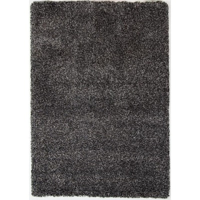 Gray Shag 4ft X 6ft Gray Rectangular Indoor Machine Made Area Rug Common 4 X 6 Actual 3 9 Ft W X 5 5 Ft L