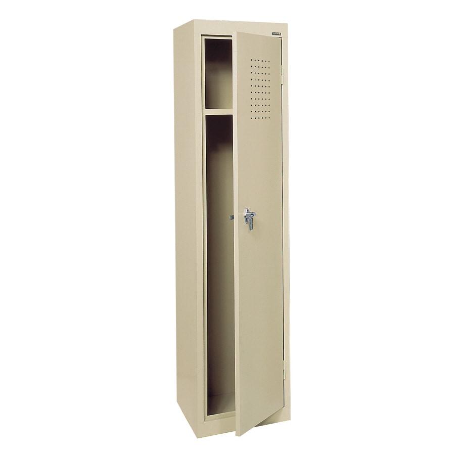 edsal 15-in W x 66-in H x 18-in D Putty Steel Storage Locker