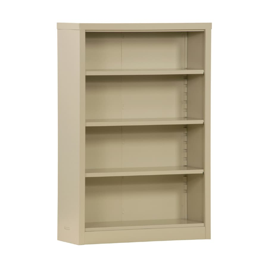 "edsal 52"" Steel Putty Freestanding Bookcase"