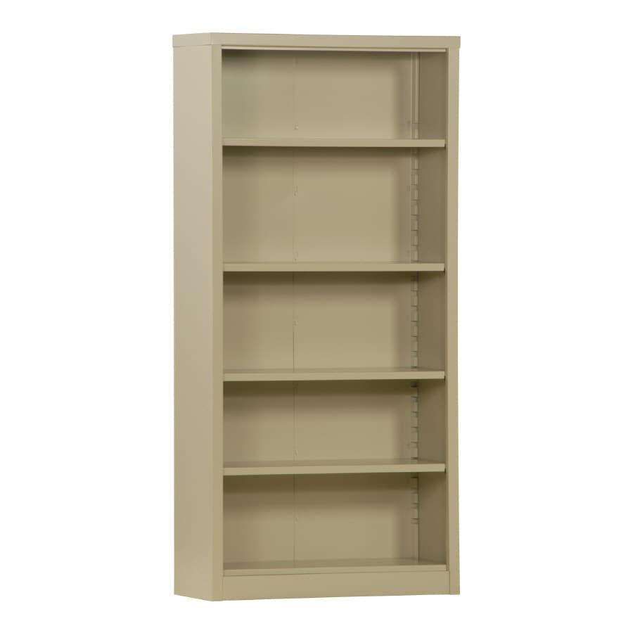"edsal 72"" Steel Putty Freestanding Bookcase"