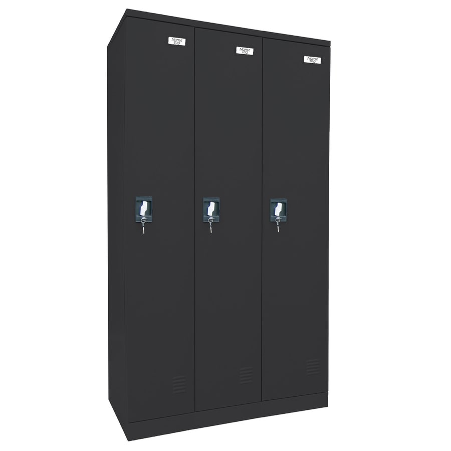 edsal 36-in W x 72-in H x 18-in D Black Steel Storage Locker