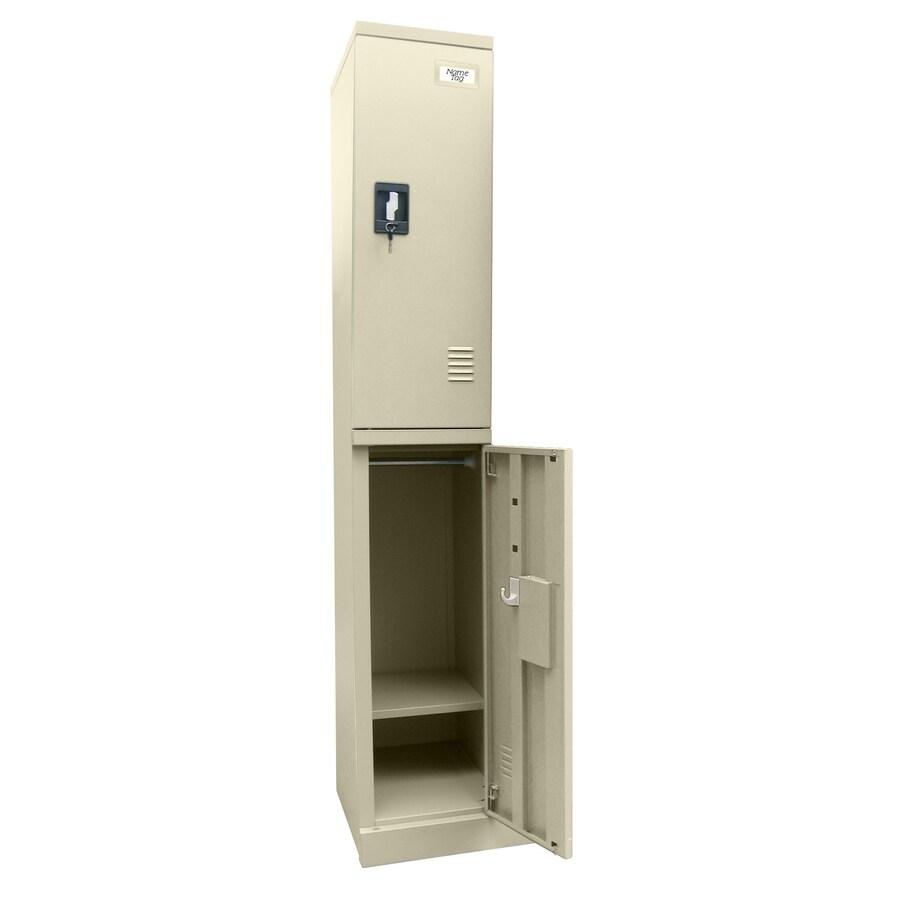 edsal Snap IT 12-in W x 72-in H x 18-in D Putty Steel Half Storage Lockers
