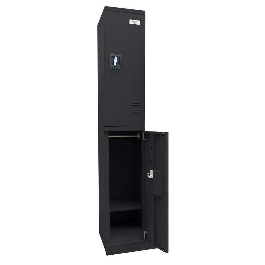 edsal Snap IT 12-in W x 72-in H x 18-in D Black Steel Half Storage Lockers