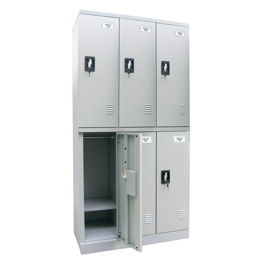 edsal 36-in W x 72-in H x 18-in D Dove Gray Steel Storage Locker