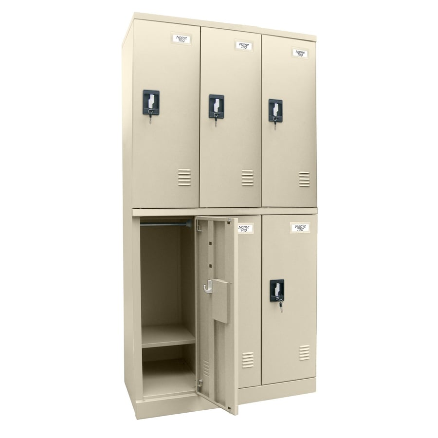edsal Snap IT 36-in W x 72-in H x 18-in D Putty Steel Half Storage Lockers