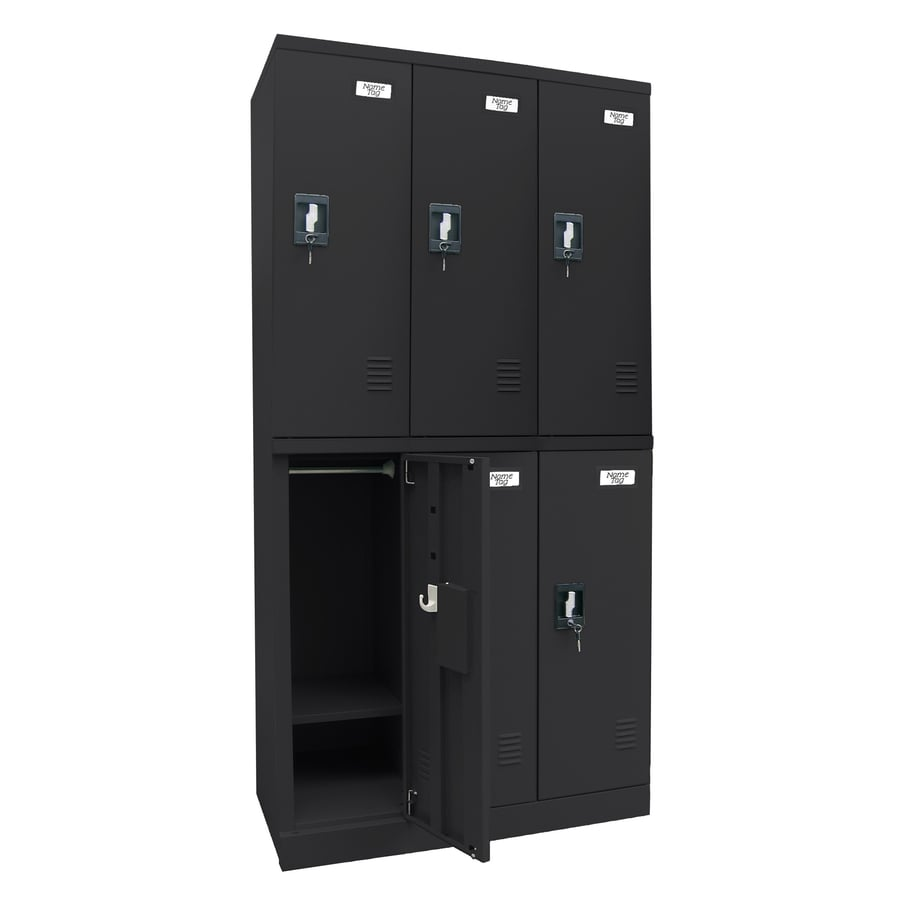 edsal Snap IT 36-in W x 72-in H x 18-in D Black Steel Half Storage Lockers