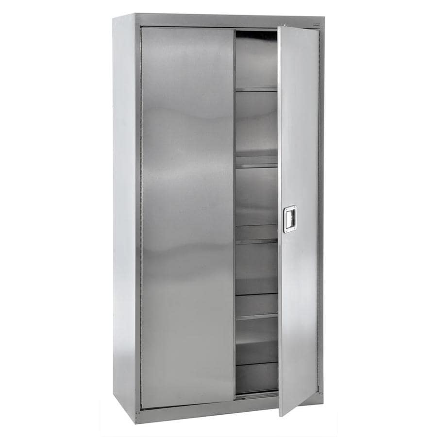 Shop edsal 36 in w x 72 in h x 18 in d steel freestanding for Kitchen cabinets 36 x 18