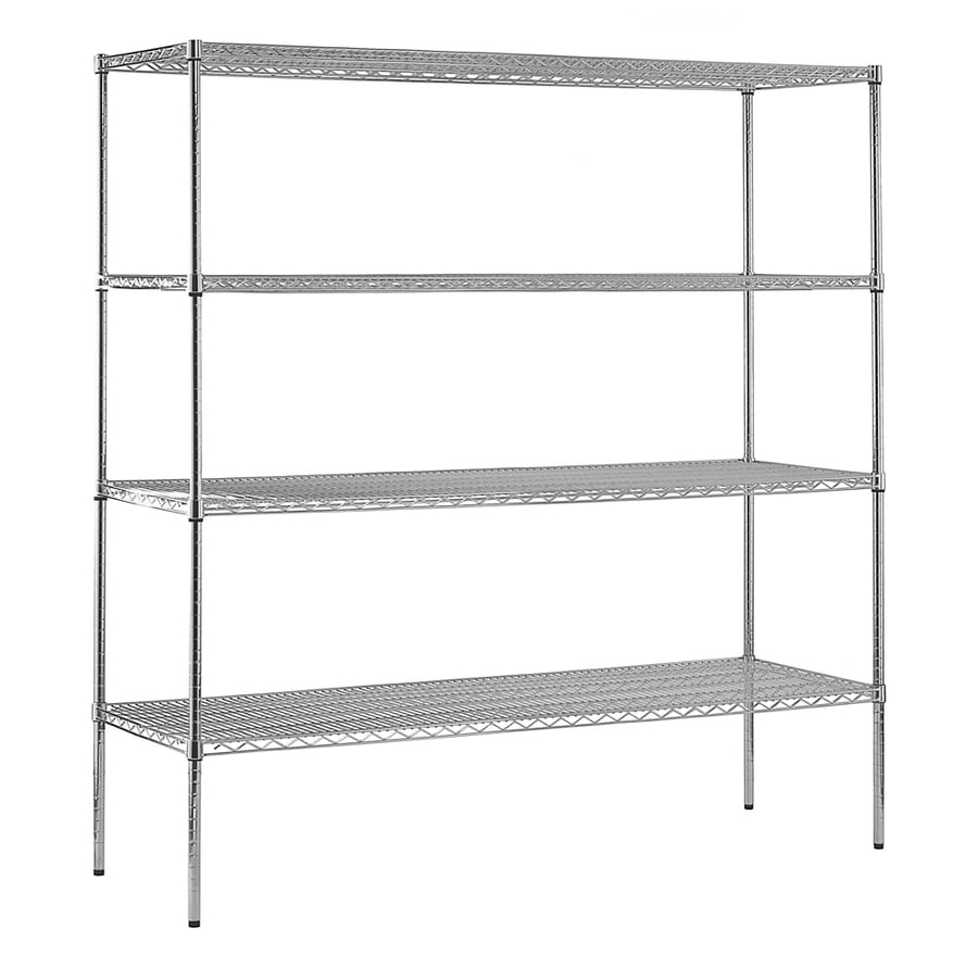 edsal 74-in H x 72-in W x 24-in D 4-Tier Wire Freestanding Shelving Unit