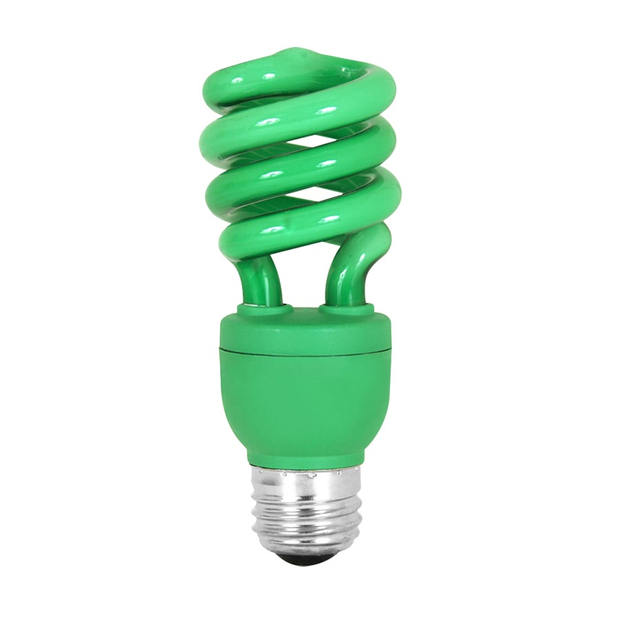 Mood-lites 13-Watt (60W Equivalent) Spiral Medium Base Green (3000K) CFL Bulb