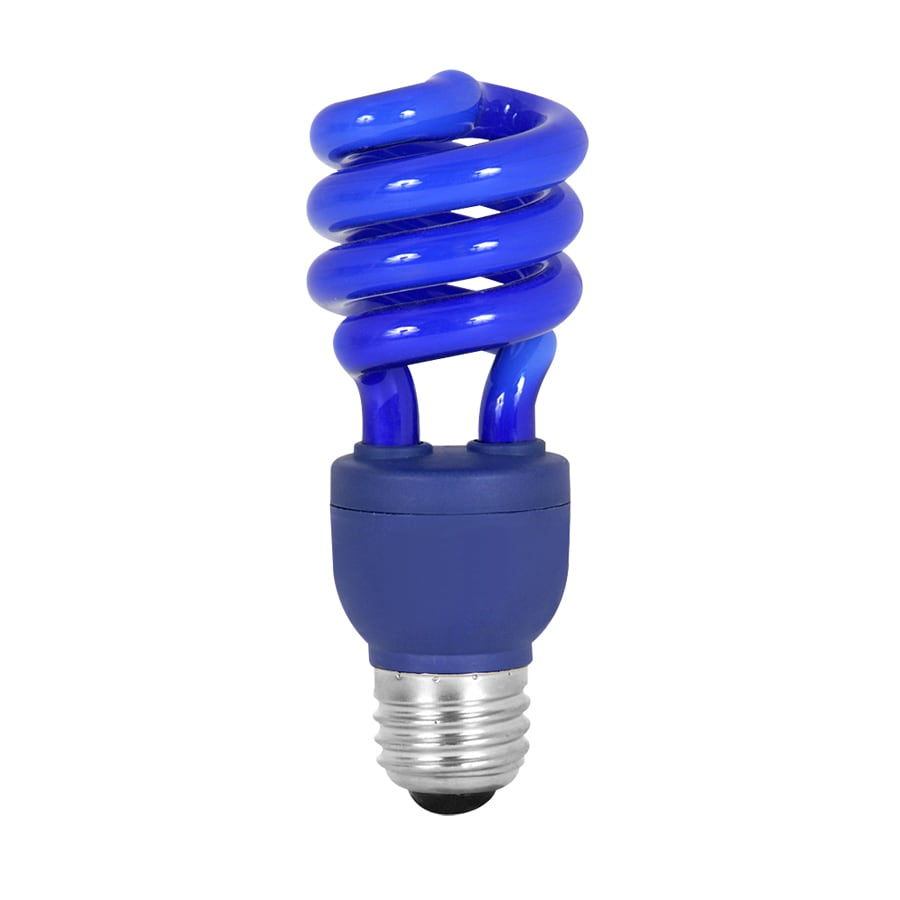 Shop Mood-lites Blue T3 CFL Decorative Light Bulb at Lowes.com