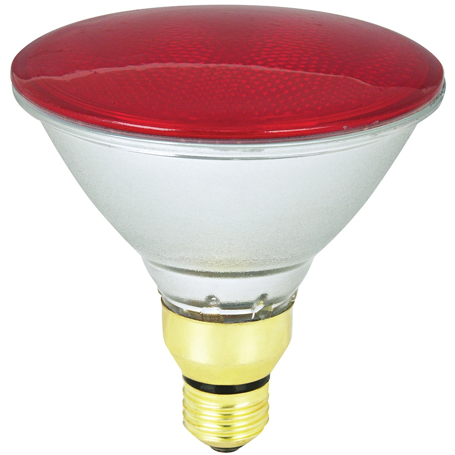 Mood-lites 90-Watt PAR38 Medium Base Red Outdoor Halogen Flood Light Bulb