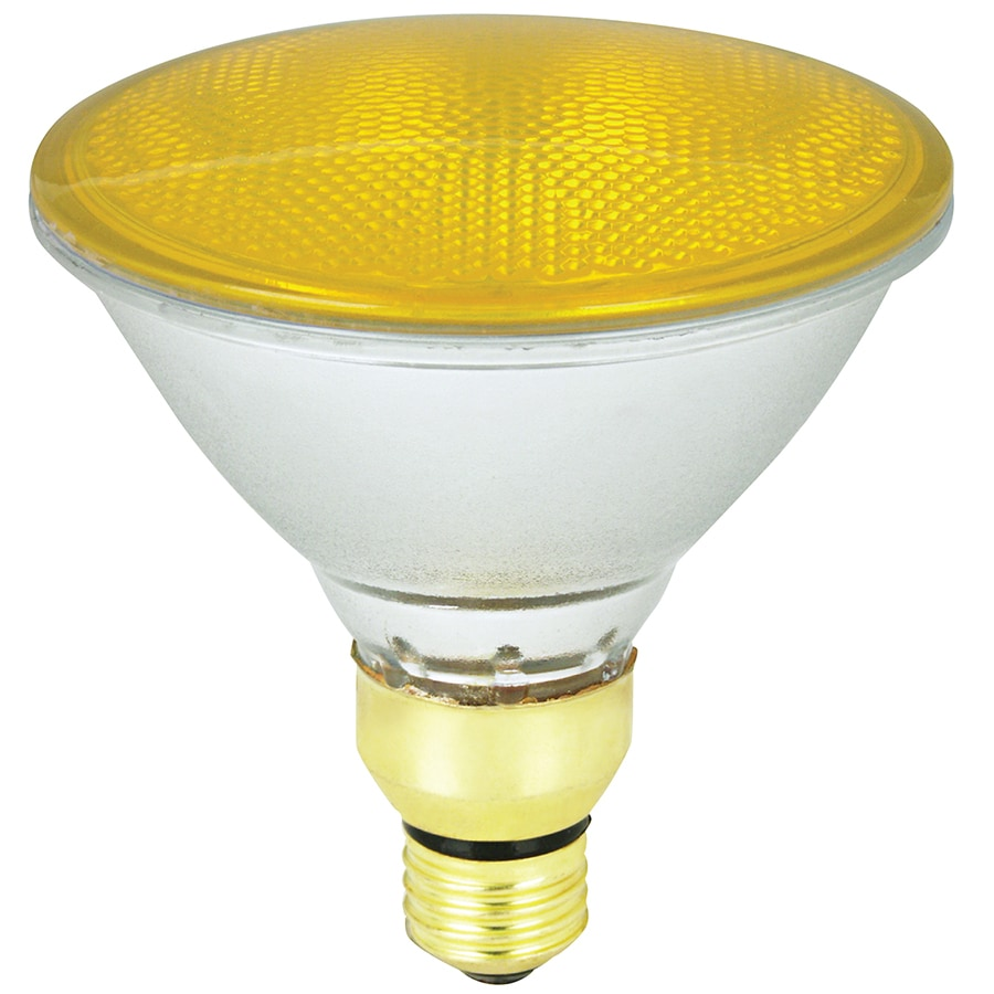 Mood-lites 90 Watt Yellow PAR38 Halogen Flood Light Bulb