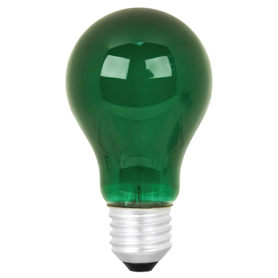 Mood-lites 25-Watt A19 Medium Base Green Decorative Incandescent Light Bulb