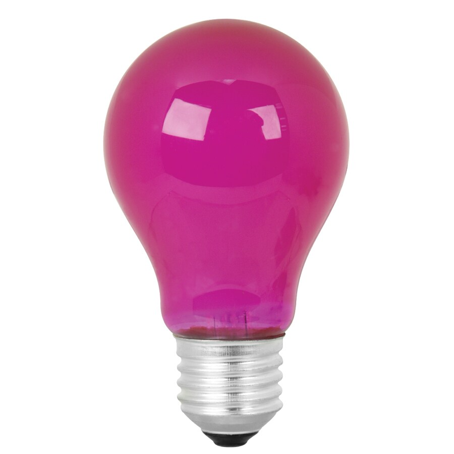 Mood Lites 25 Watt A19 Medium Base Pink Decorative Incandescent Light Bulb