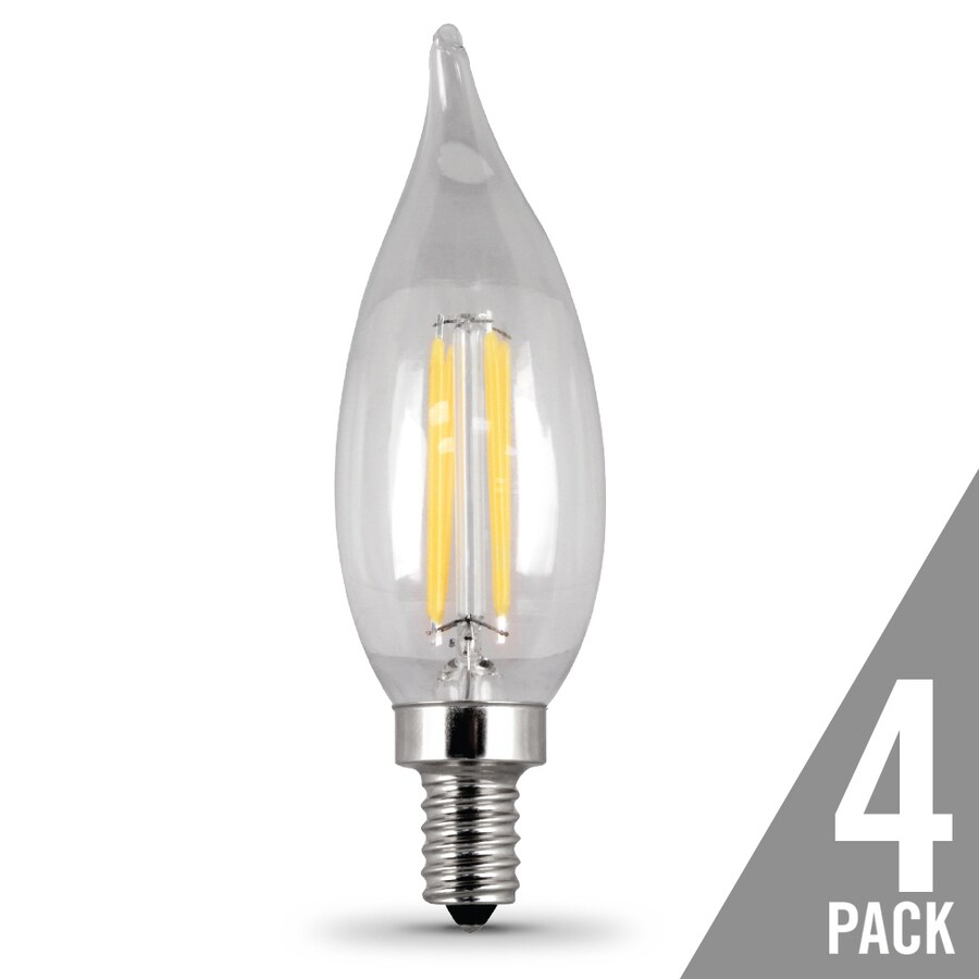 feit electric 4 pack 40 w equivalent dimmable soft white b10 led decorative light bulbs - Decorative Light Bulbs