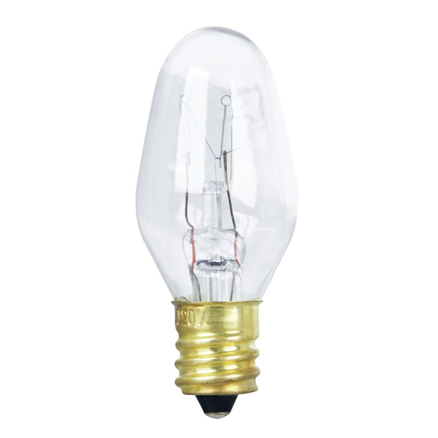 Feit Electric 2-Pack 10 Watt Indoor Dimmable Soft White C7 Incandescent Appliance Light Bulbs