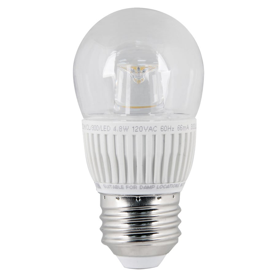 Utilitech 4.8-Watt (40 W Equivalent) Medium Base Warm White (3000K) Decorative LED Light Bulb