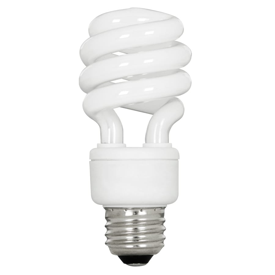 Shop Utilitech 4 Pack 60w Equivalent Natural Daylight T3 Cfl Light Fixture Light Bulbs At