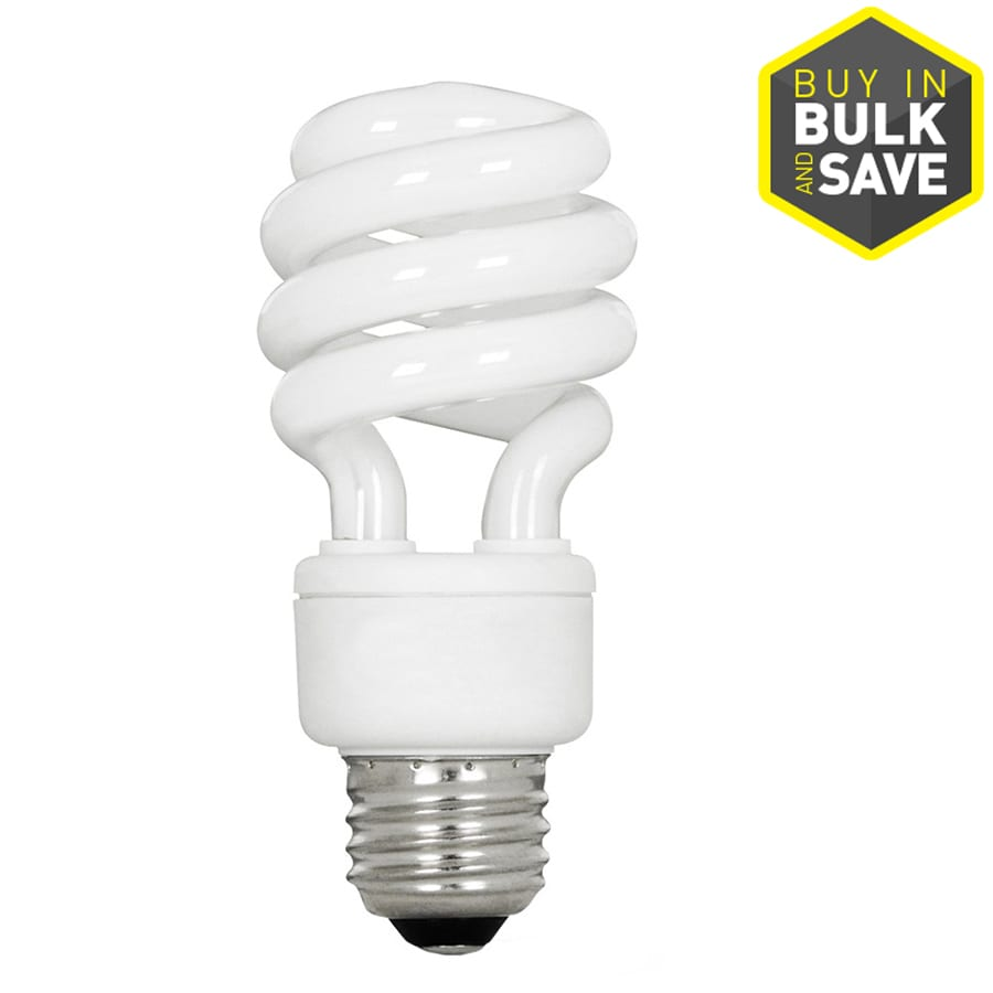 Utilitech 6-Pack 13-Watt (60W Equivalent) Spiral Medium Base Soft White (2700K) CFL Bulbs ENERGY STAR