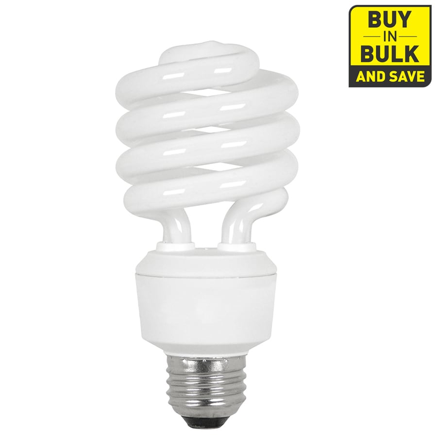 Utilitech 6-Pack 23-Watt (100W Equivalent) Spiral Medium Base Soft White (2700K) CFL Bulbs ENERGY STAR