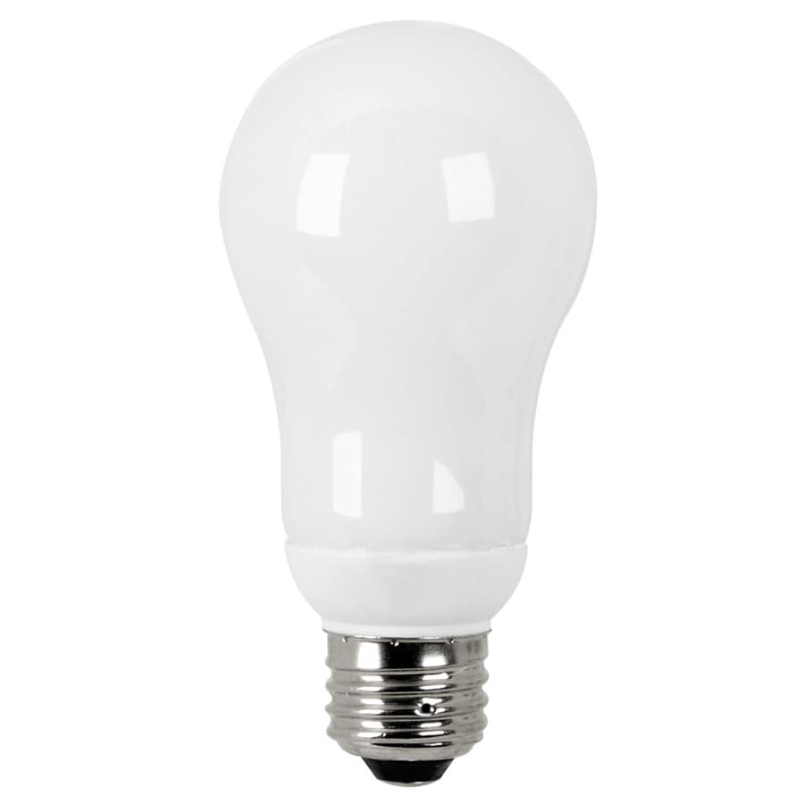Utilitech 2-Pack 16-Watt (60W Equivalent) A19 Medium Base Bright White (3500K) CFL Bulbs