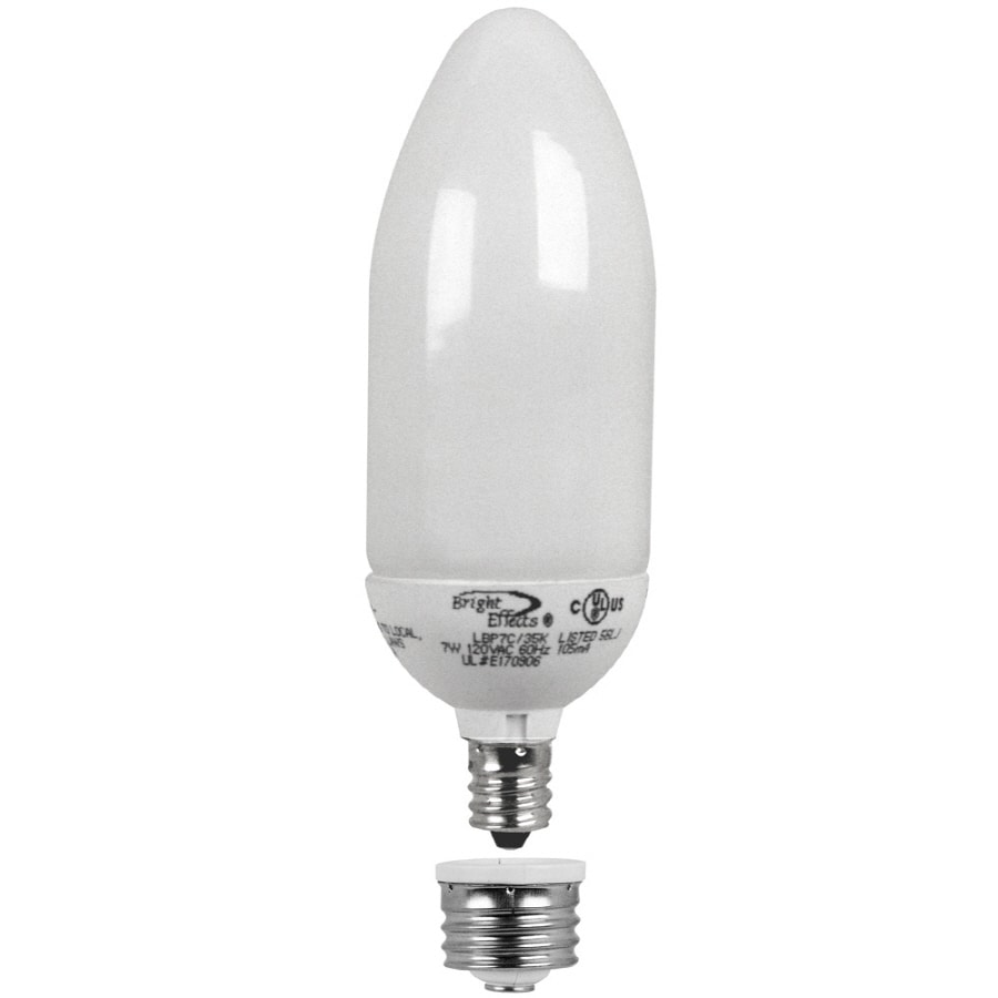 Bright Effects 7W Twist 3500K Chandelier Cand Base Bulb