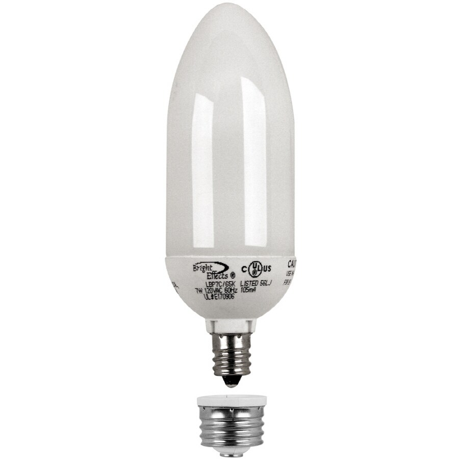 Bright Effects 7W Twist 6500K Chandelier Cand Base Bulb