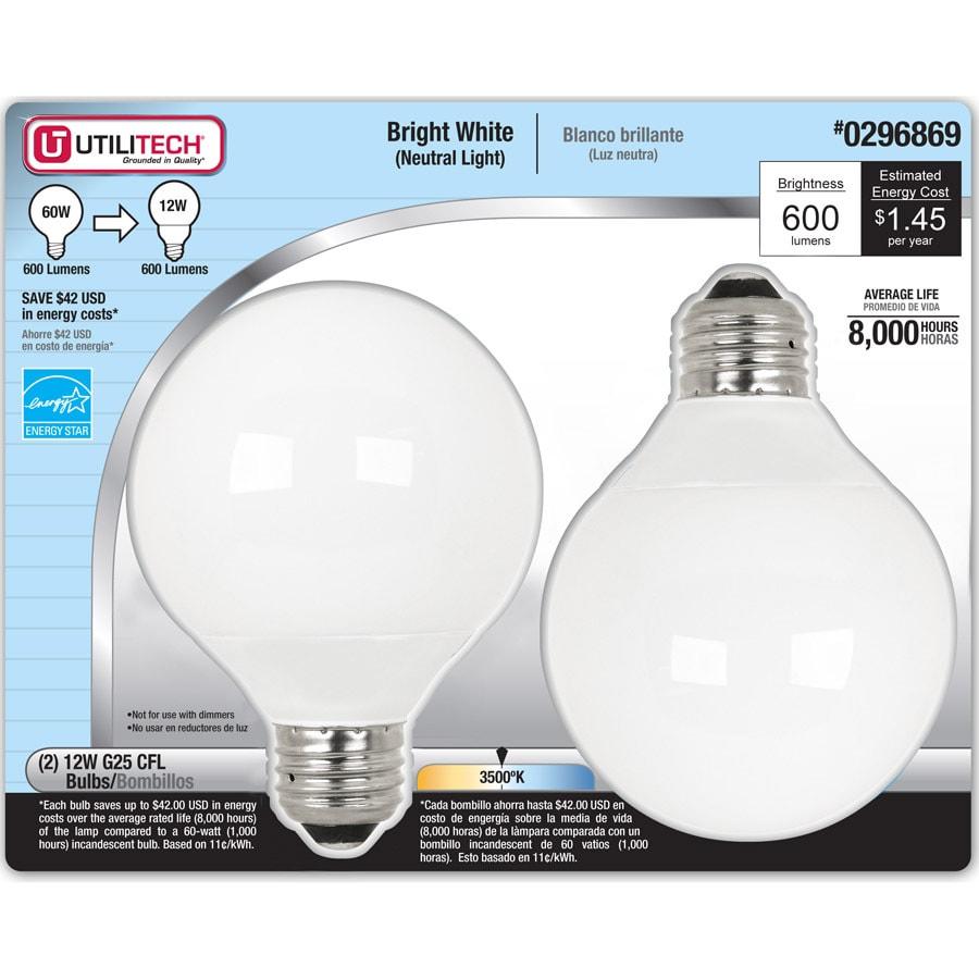 utilitech 2light white bathroom vanity light