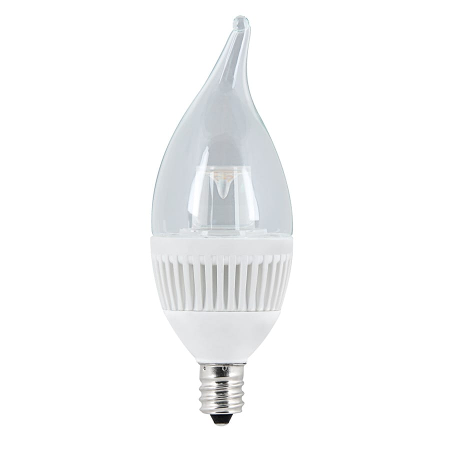 Utilitech 4.8-Watt (40 W Equivalent) Candelabra Base Warm White (3000K) Decorative LED Light Bulb