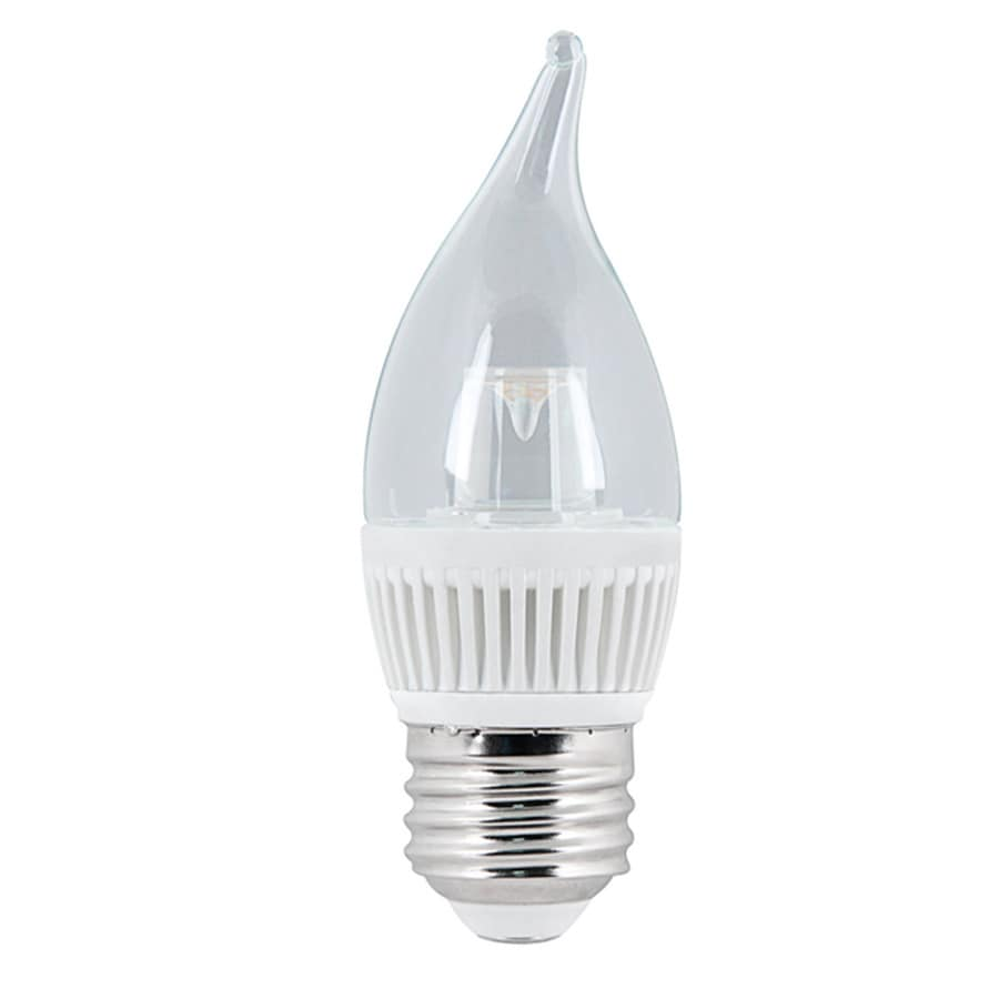 Utilitech 4.8-Watt (40 W Equivalent) Medium Base Warm White (3000K) Decorative LED Light Bulb