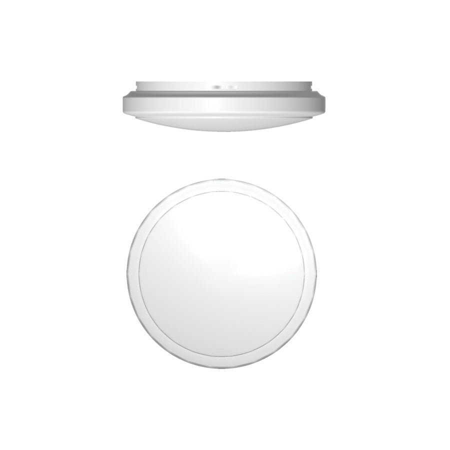 Utilitech 21.65-in W White Ceiling Flush Mount