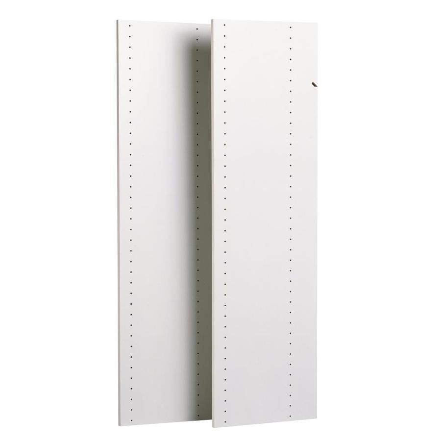 Easy Track 0.625 In W X 14 In D White Wood Closet Shelf Kit