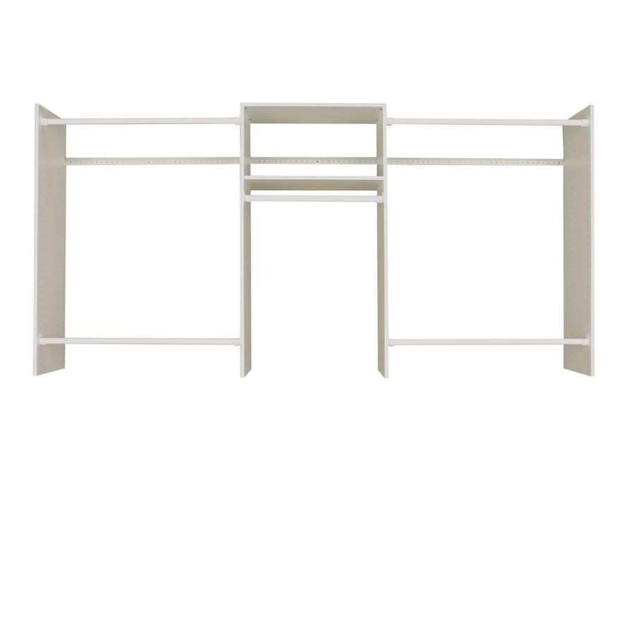 Easy Track 8 Ft X 7 Ft White Wood Closet Kit