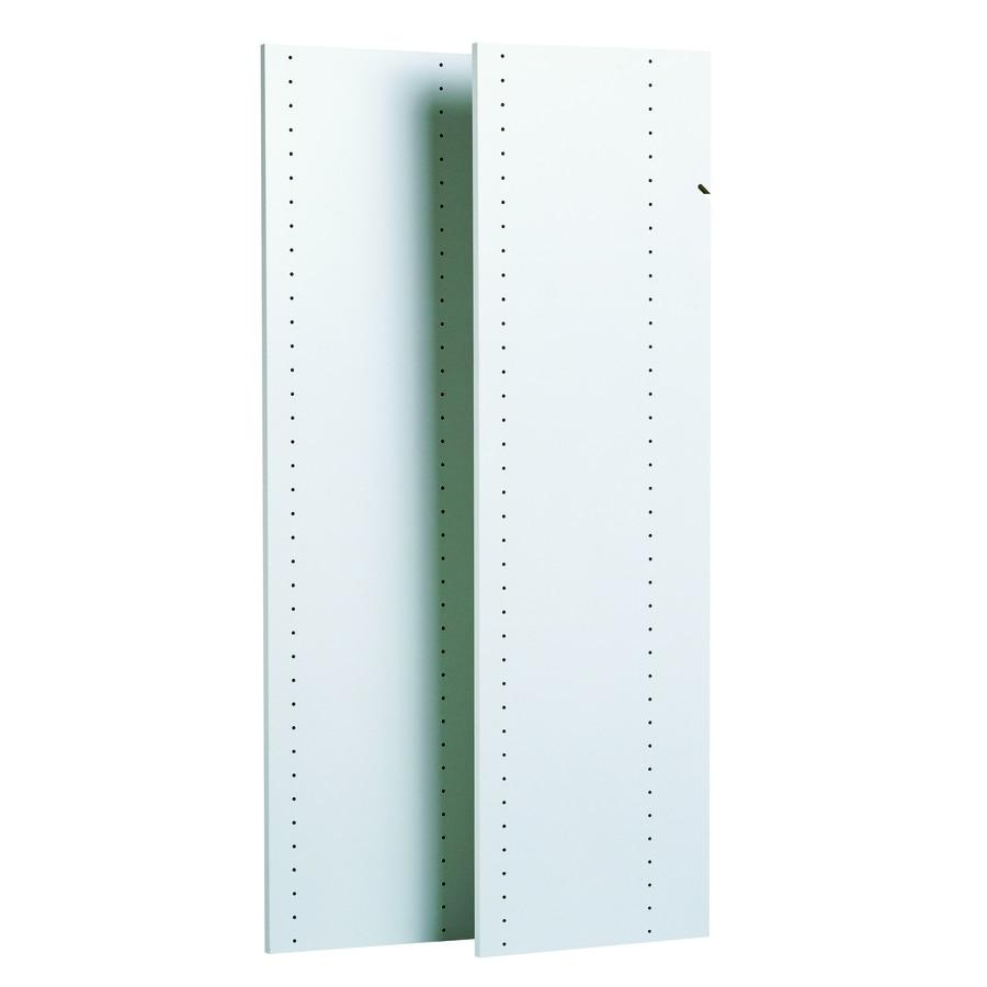 Easy Track 0.625-in W x 14-in D White Wood Closet Shelf Kit