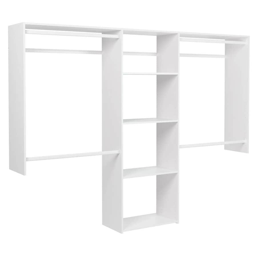 Easy Track 8 Ft X 7 Ft White Wood Closet Kit