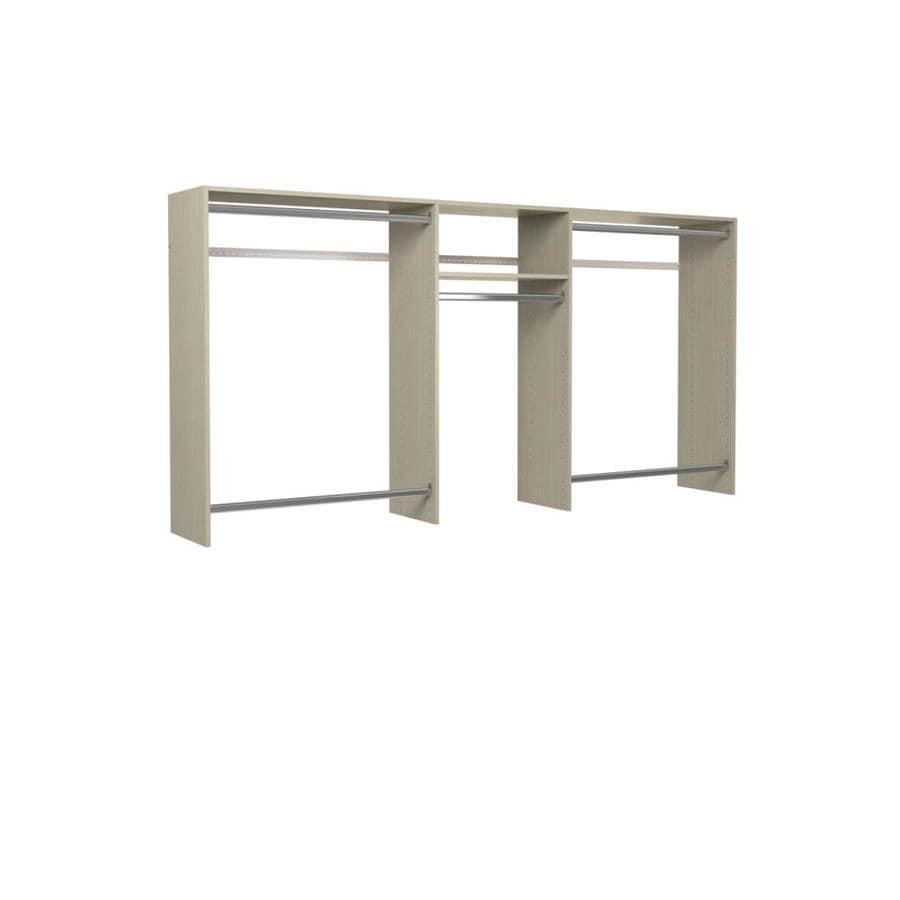 shop easy track 8 ft x 7 ft weathered grey wood closet kit at. Black Bedroom Furniture Sets. Home Design Ideas